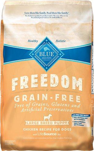Blue Buffalo Freedom Large Breed Puppy Chicken Recipe Grain-Free Dry Dog Food 24lbs