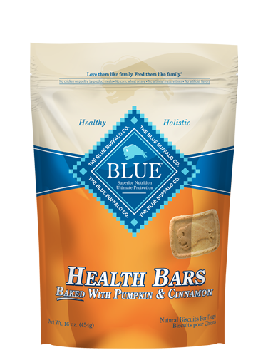 Blue Buffalo Health Bars Baked with Pumpkin & Cinnamon Dog Treats 1lbs