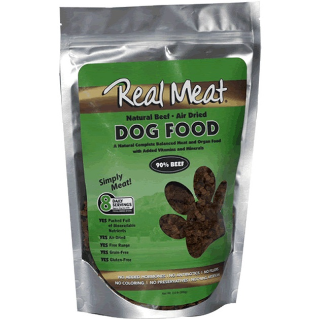 The Real Meat Company 90% Beef Air-Dried Dog Food 2lbs