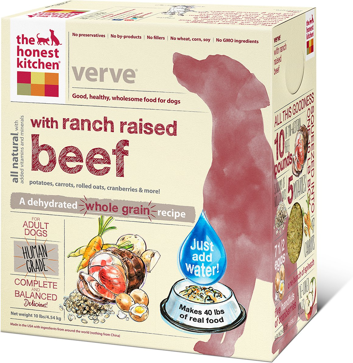 The Honest Kitchen Verve Dehydrated Dog Food 10lbs