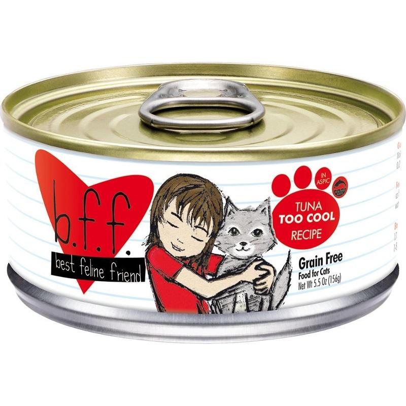 Weruva BFF Grain-Free Tuna Too Cool Recipe in Aspic Canned Cat Food 5.5z, 24
