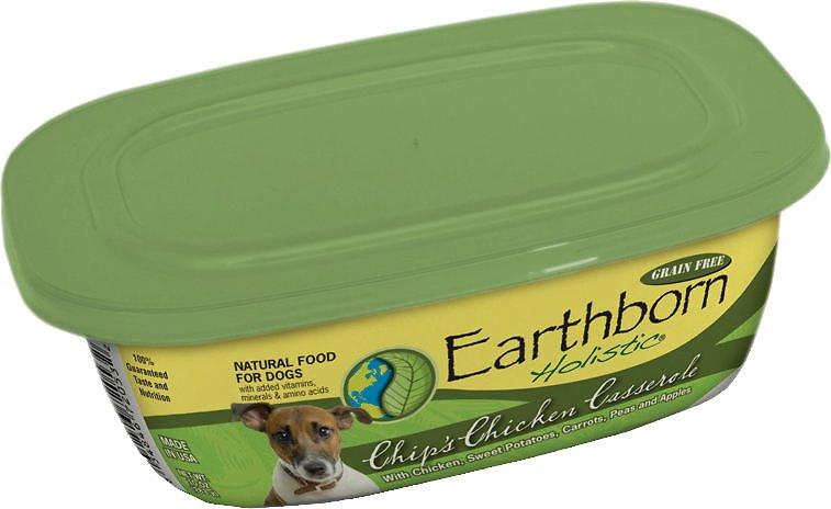 Earthborn Holistic Chip's Chicken Casserole Grain-Free Natural Moist Dog Food 9z, 8