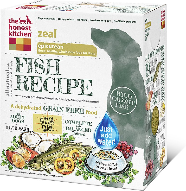 The Honest Kitchen Zeal Dehydrated Dog Food 4lbs