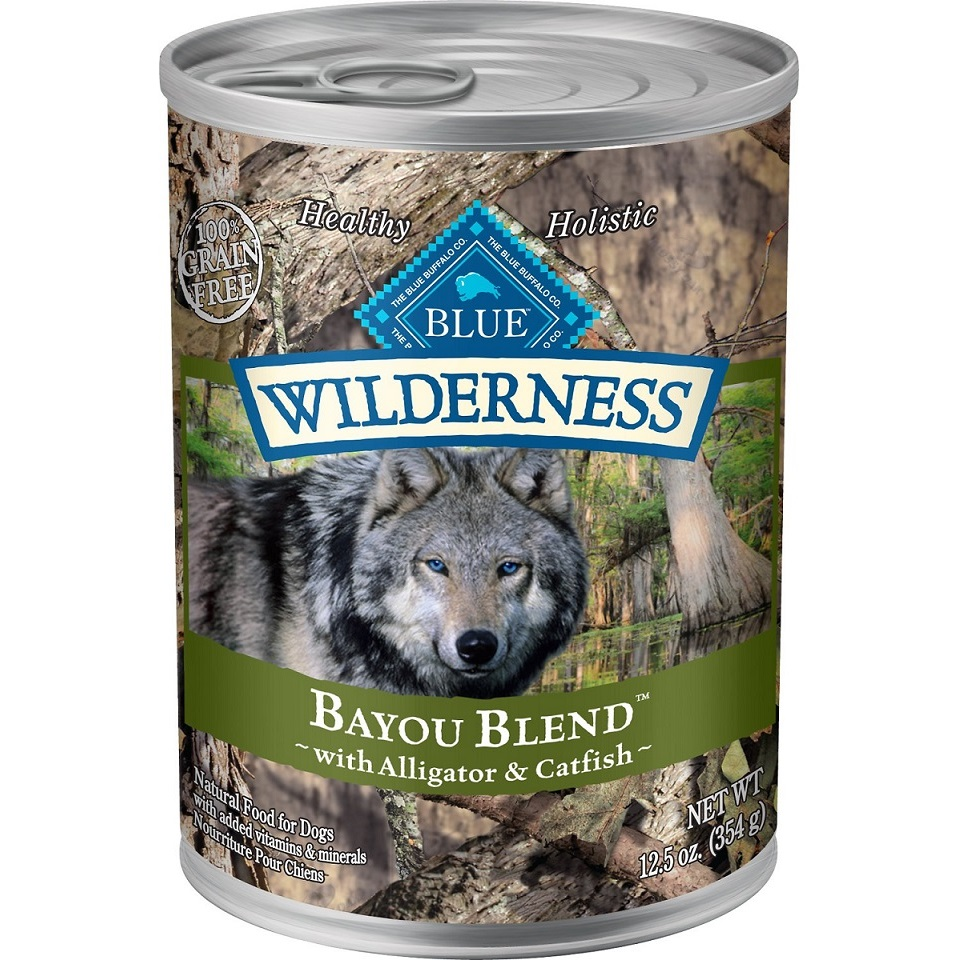 Blue Buffalo Wilderness Bayou Blend with Alligator & Catfish Grain-Free Canned Dog Food 12.5z, 12