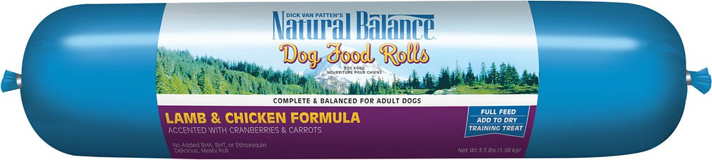 Natural Balance Lamb & Chicken Formula Dog Food Roll 3.5lbs