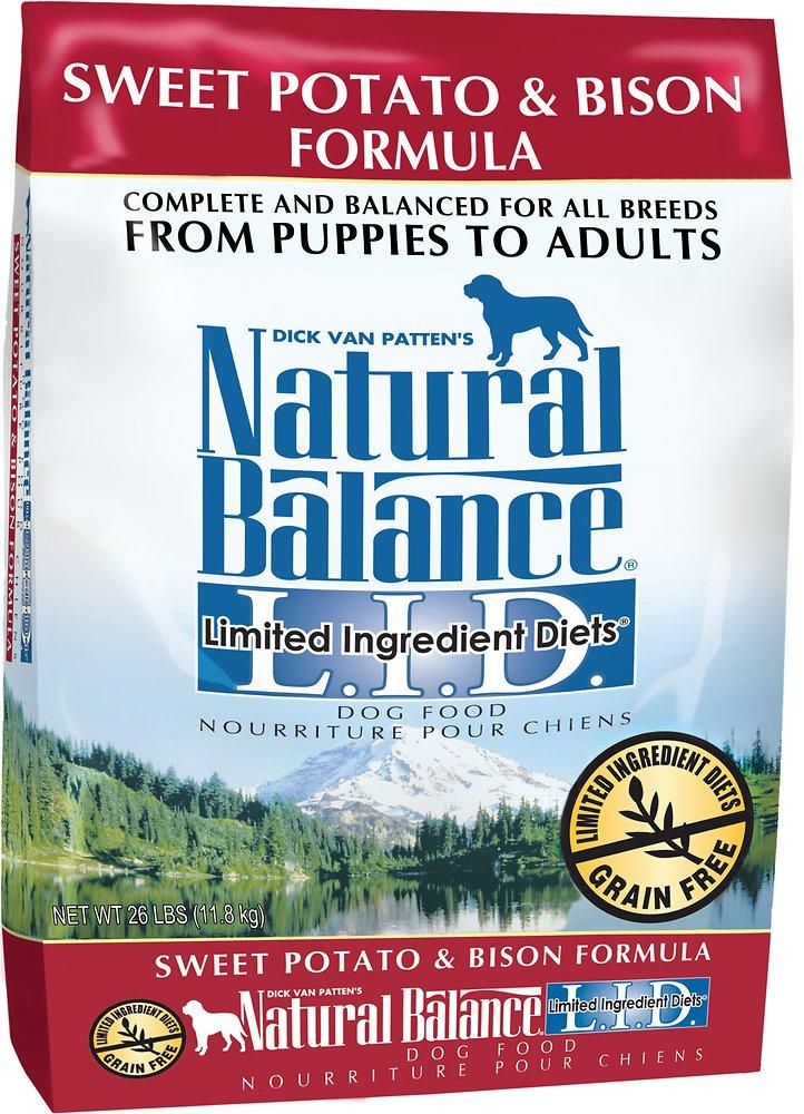 Natural Balance L.I.D. Limited Ingredient Diets Sweet Potato & Bison Formula Dry Dog Food 26lbs