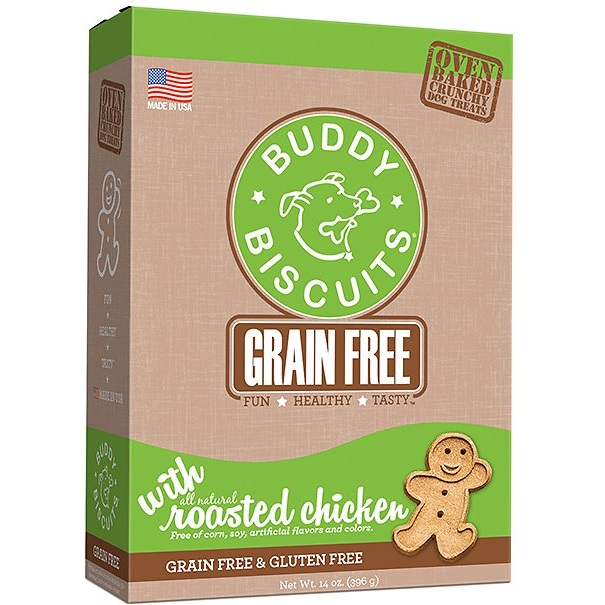 Cloud Star Buddy Biscuits Grain-Free Oven Baked with Rotisserie Chicken Dog Treats 14z
