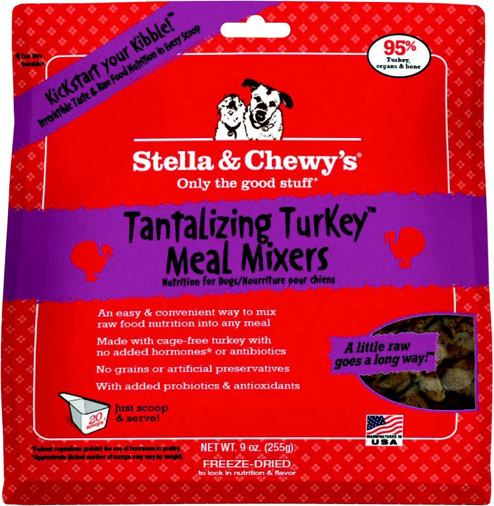 Stella & Chewy's Tantalizing Turkey Meal Mixers Raw Freeze Dried Dog Food 9z