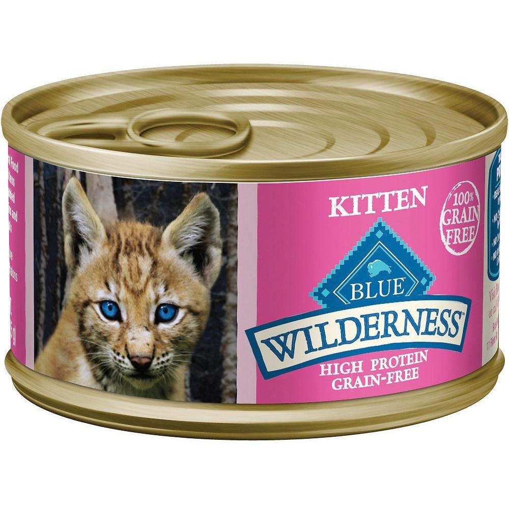 Blue Buffalo Wilderness Kitten Salmon Grain-Free Canned Cat Food 3z, 24