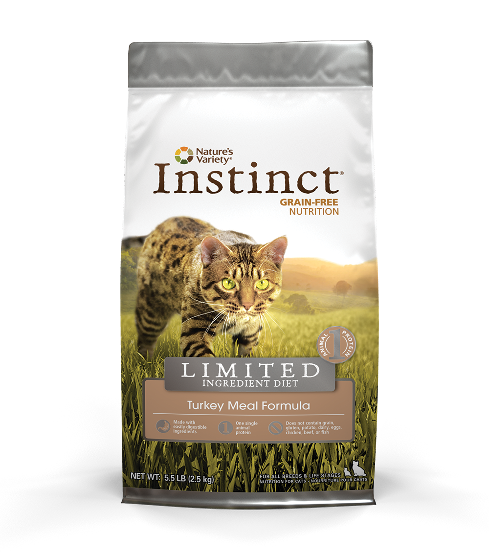 Nature's Variety Instinct Grain-Free Limited Ingredient Diet Turkey Meal Formula Dry Cat Food 5lbs
