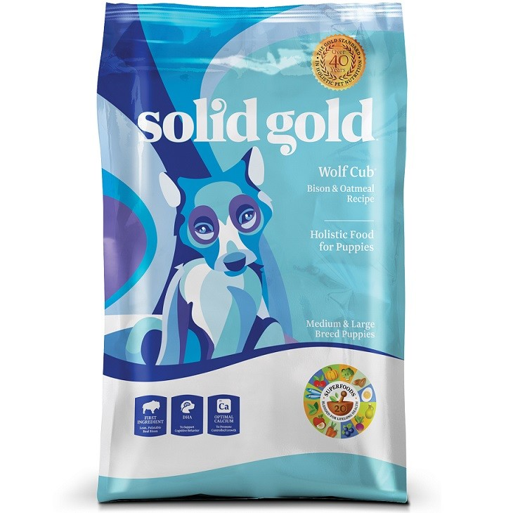 Solid Gold Wolf Cub Bison & Oatmeal Puppy Formula Dry Dog Food 24lbs