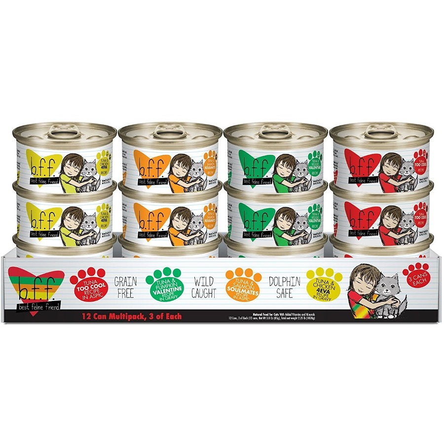 Weruva BFF Grain-Free 3z Canned Cat Food 12 Can Variety Pack