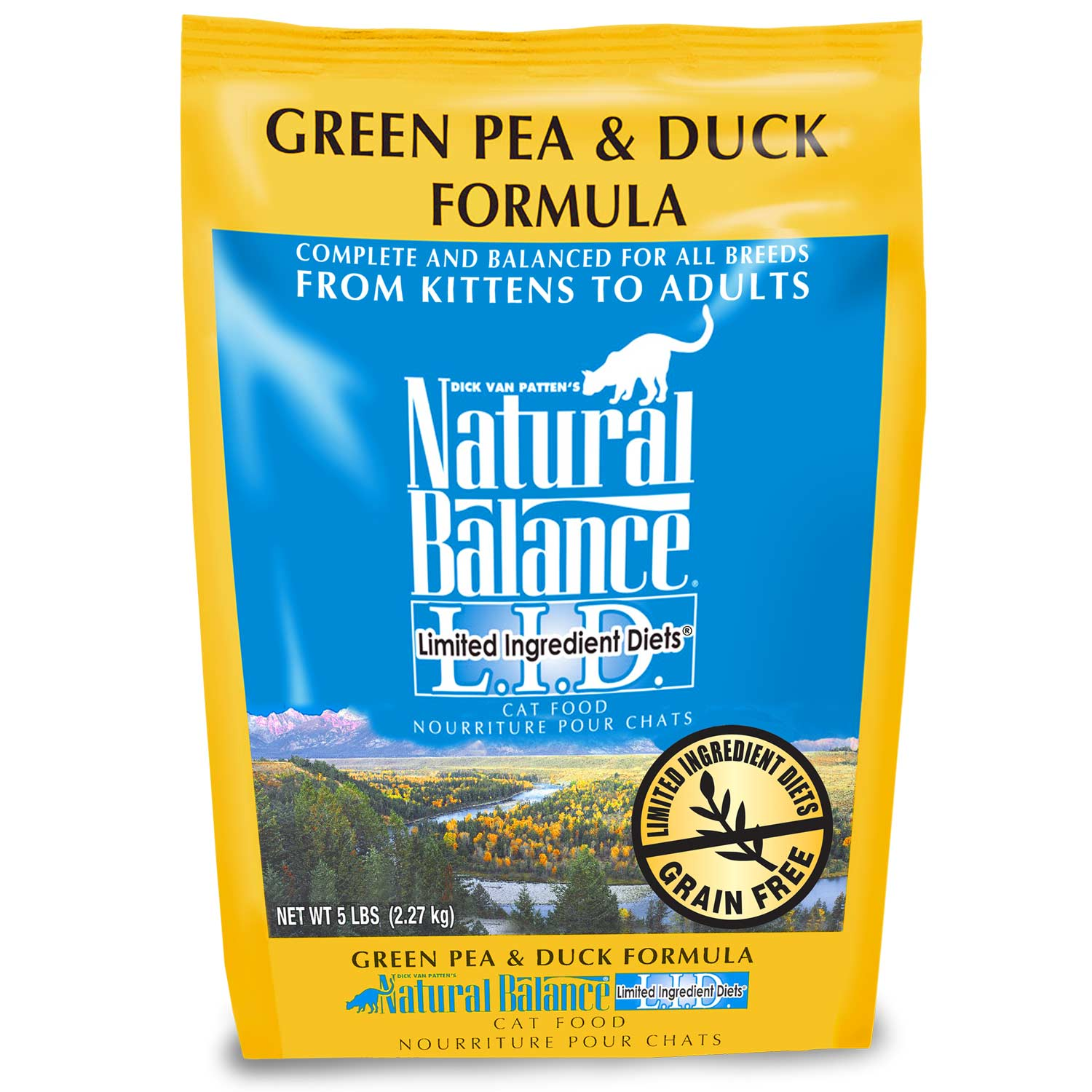Natural Balance L.I.D. Limited Ingredient Diets Green Pea & Duck Formula Grain-Free Dry Cat Food 5lbs