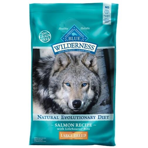 Blue Buffalo Wilderness Large Breed Salmon Recipe Grain-Free Dry Dog Food 24lbs