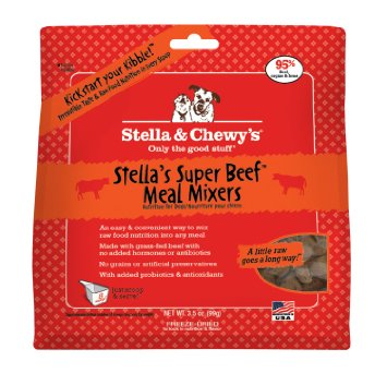 Stella & Chewy's Stella's Super Beef Meal Mixers Raw Freeze Dried Dog Food Topper 9z