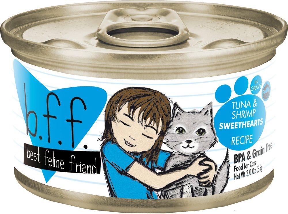 Weruva BFF Grain-Free Tuna & Shrimp Sweethearts Recipe in Gravy Canned Cat Food 3z, 24