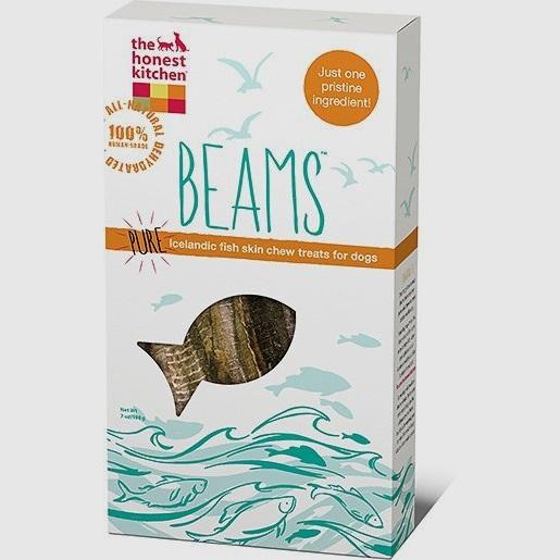 The Honest Kitchen Beams Pure Talls Fish Skin Sticks Dehydrated Dog Treats 6z
