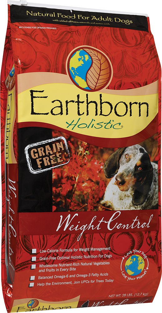 Earthborn Holistic Grain-Free Weight Control Dry Dog Food 28lbs