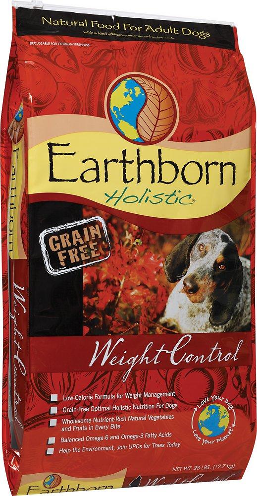 Earthborn Holistic Grain-Free Weight Control Dry Dog Food 28lbs