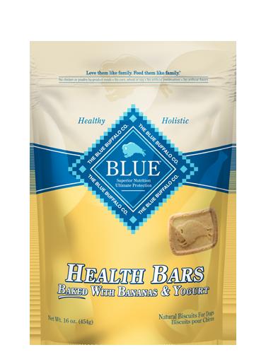 Blue Buffalo Health Bars Baked with Banana & Yogurt Dog Treats 1lbs