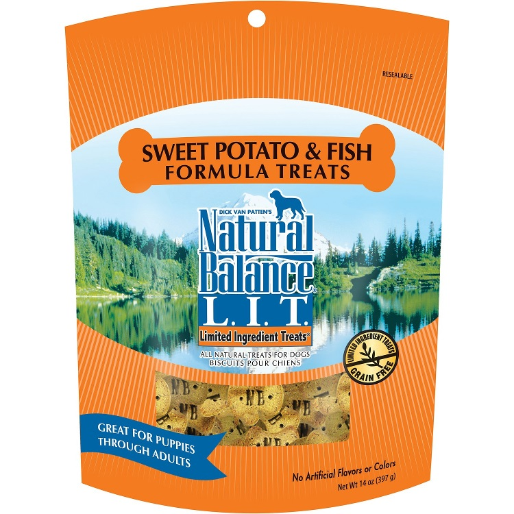 Natural Balance Limited Ingredient Treats Sweet Potato And Fish Dog Treat 14z