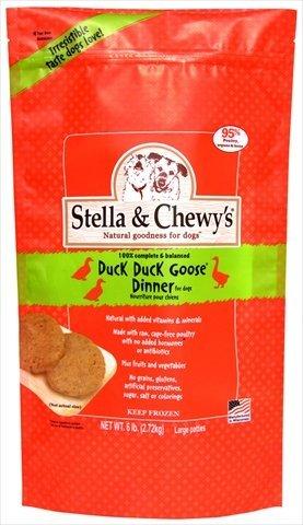 Stella & Chewy's Duck Duck Goose 8z Dinner Patties Grain-Free Raw Frozen Dog Food 6lbs