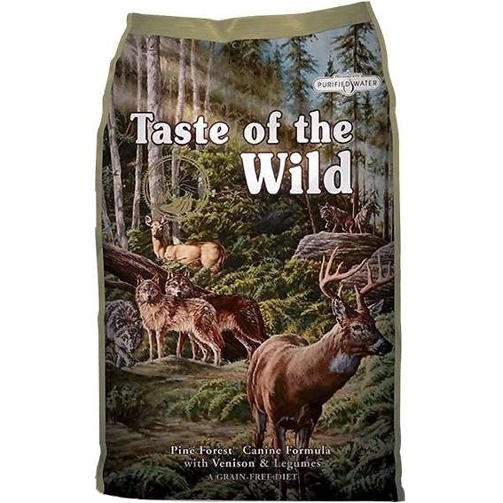 Taste of the Wild Pine Forest Grain-Free Dry Dog Food 5lbs