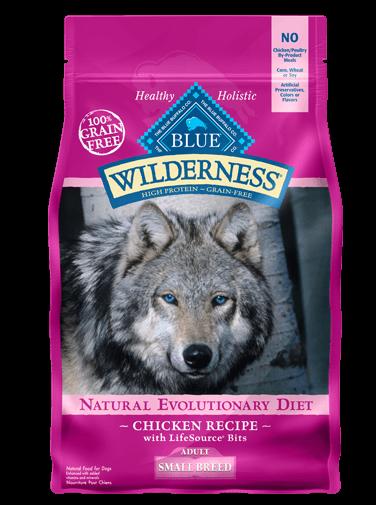 Blue Buffalo Wilderness Small Breed Chicken Recipe Grain-Free Dry Dog Food 11lbs