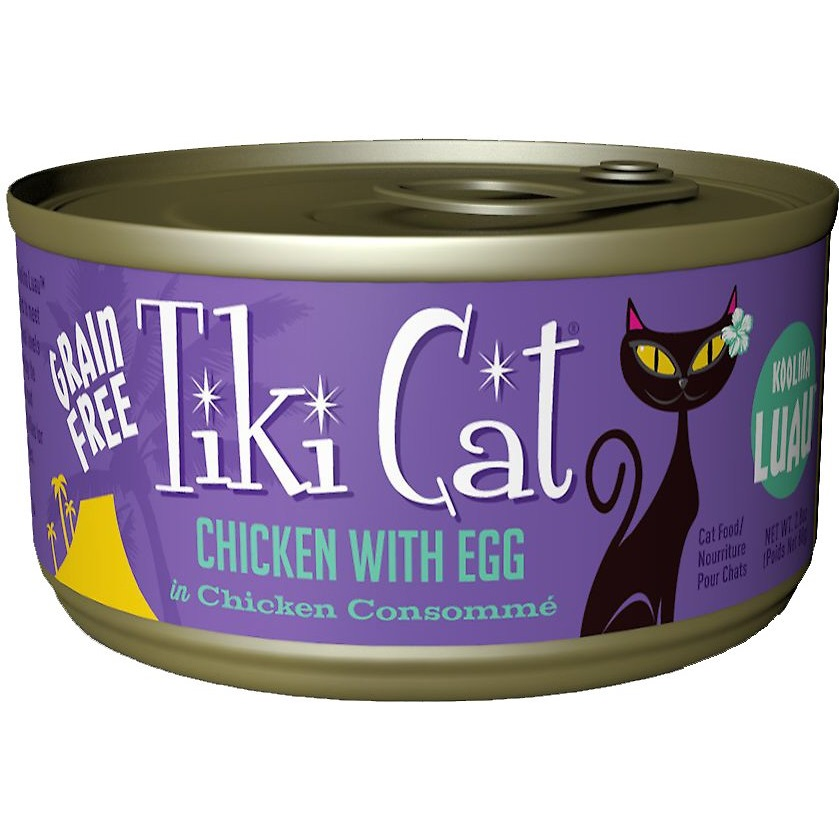 Tiki Cat Grain-Free Koolina Luau Chicken with Egg in Chicken Consomme Canned Cat Food 2.8z, 12