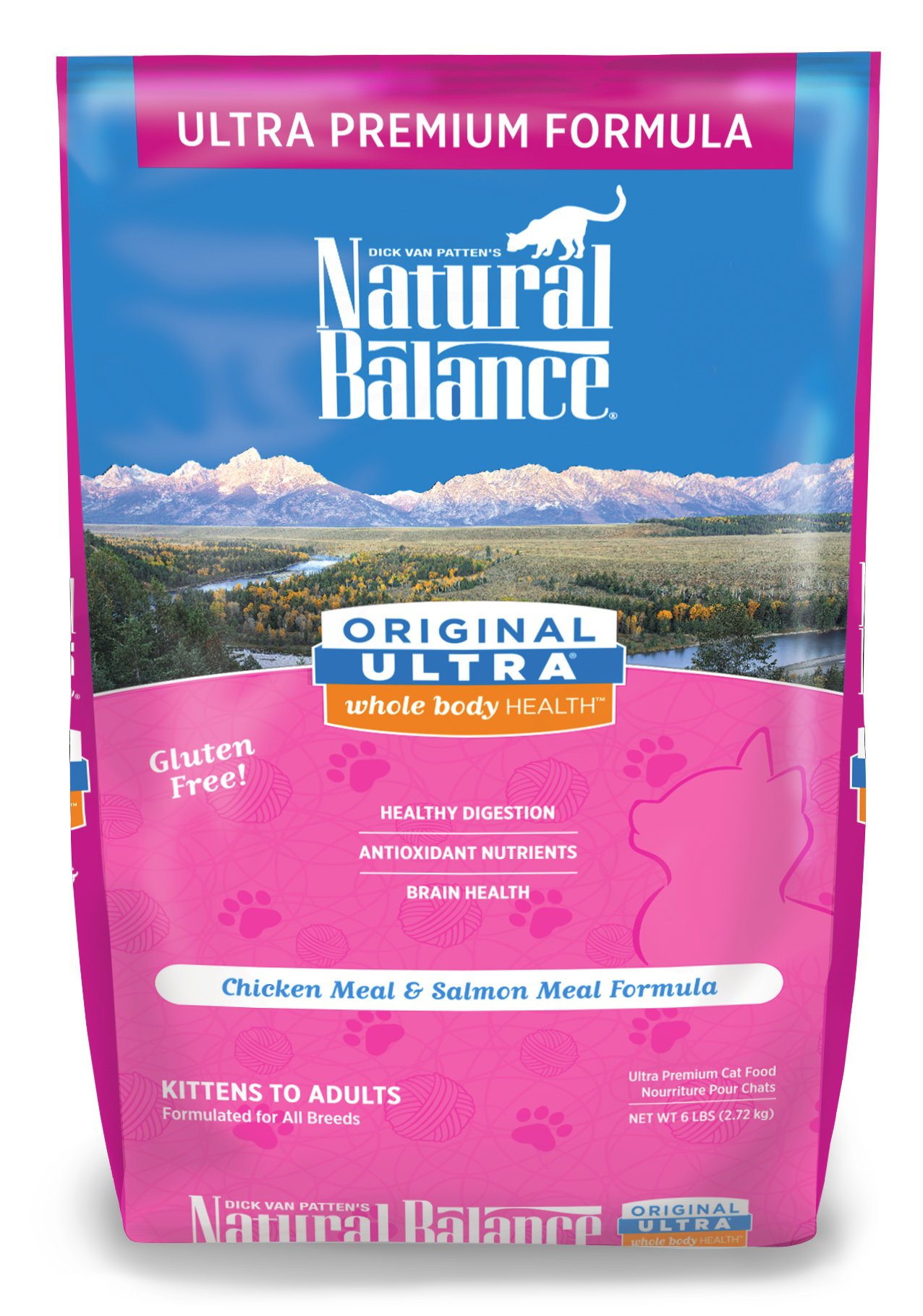 Natural Balance Original Ultra Whole Body Health Chicken Meal & Salmon Meal Formula Dry Cat Food 6lbs