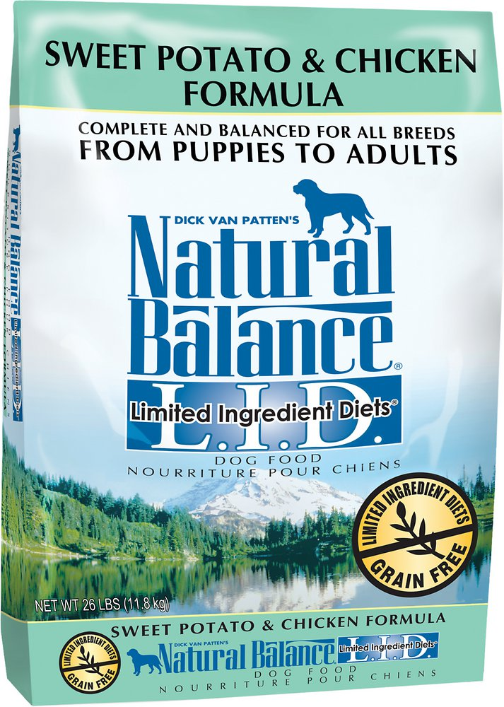 Natural Balance L.I.D. Limited Ingredient Diets Sweet Potato & Chicken Formula Dry Dog Food 26lbs