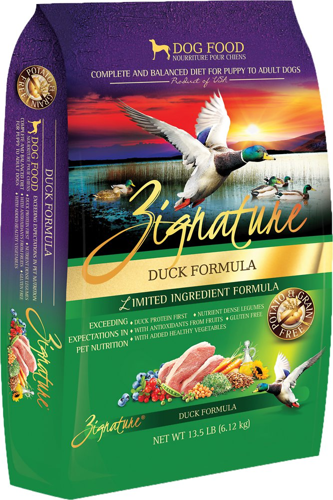 Zignature Grain-Free Duck Limited Ingredient Formula Dry Dog Food 13.5lbs