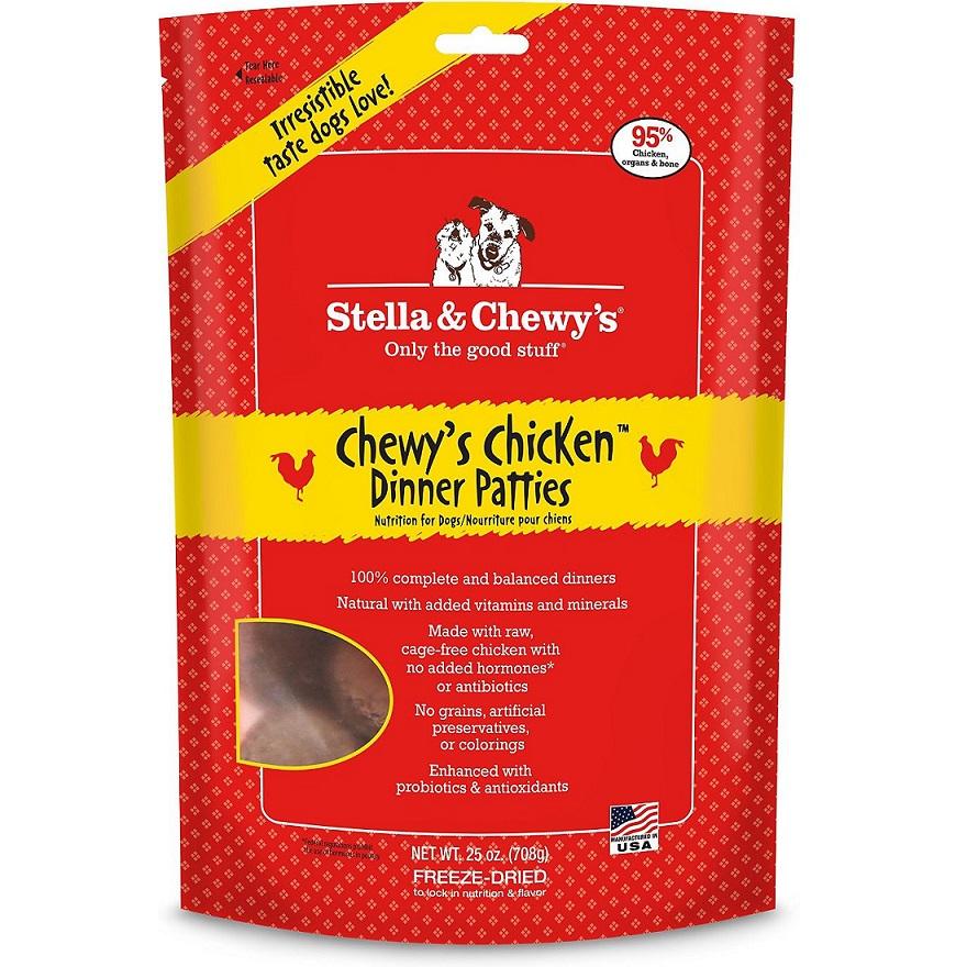 Stella & Chewy's Chewy's Chicken Dinner Patties Raw Freeze Dried Dog Food 25z