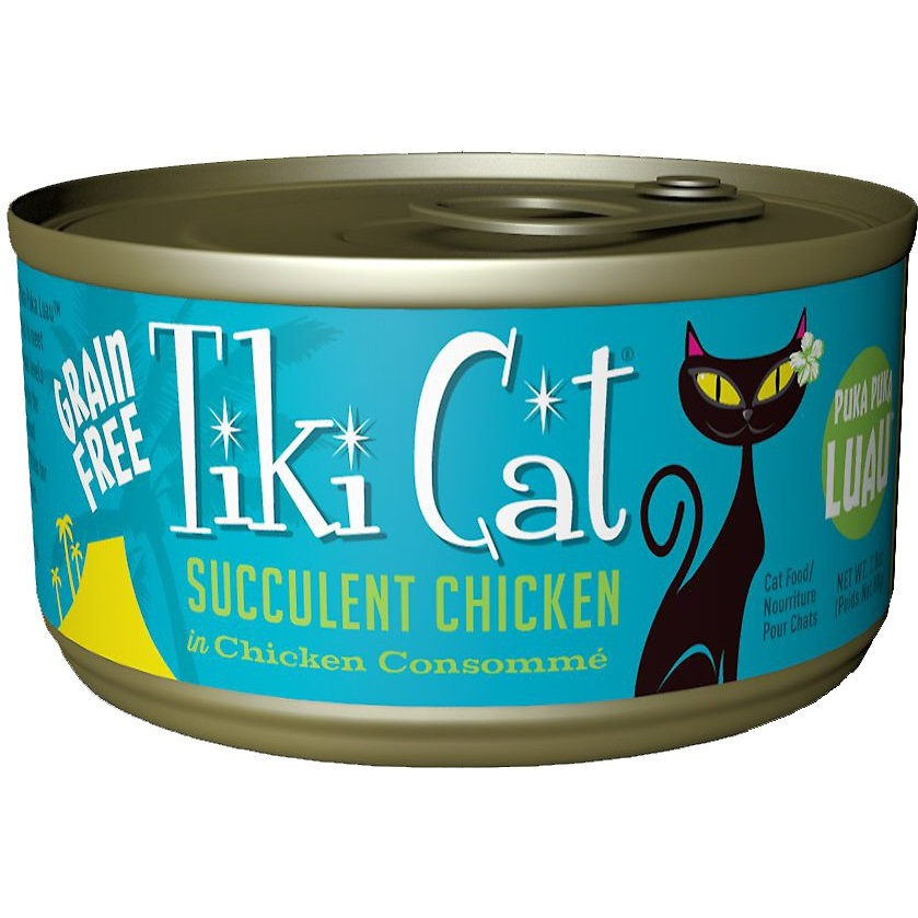 Tiki Cat Grain-Free Puka Puka Luau Succulent Chicken in Chicken Consomme Canned Cat Food 2.8z, 12