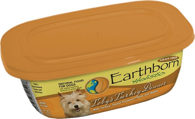 Earthborn Holistic Toby's Turkey Dinner Grain-Free Natural Moist Dog Food 9z, 8