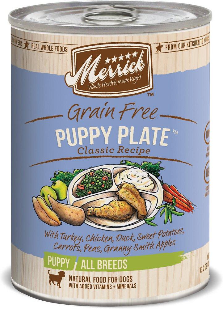 Merrick Classic Grain-Free Puppy Plate Recipe Canned Dog Food 13.2z, 12