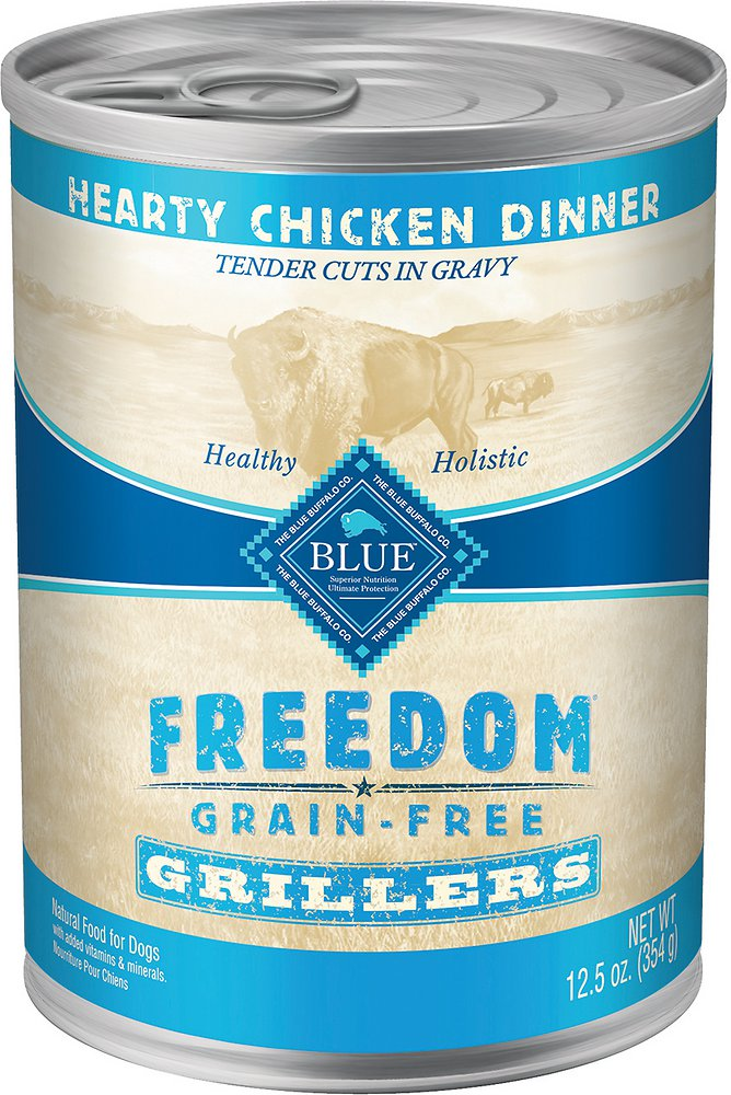 Blue Buffalo Freedom Grillers Hearty Chicken Dinner Grain-Free Canned Dog Food 12.5z, 12