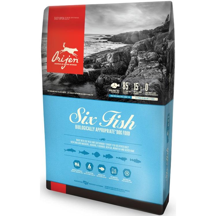 Orijen Six Fish Grain-Free Formula Dry Dog Food 25lbs