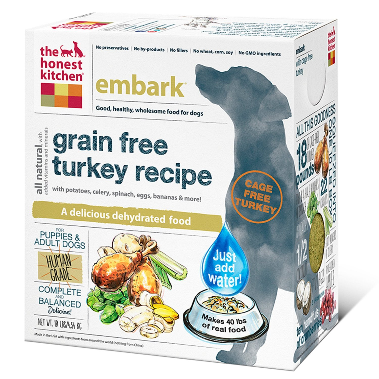 The Honest Kitchen Embark Dehydrated Dog Food 10lbs