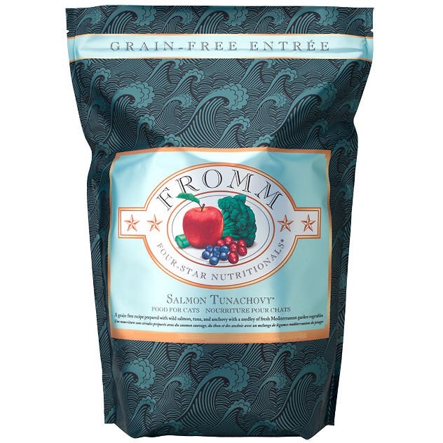 Fromm Four-Star Nutritionals Grain-Free Salmon Tunachovy Dry Cat Food 15lbs