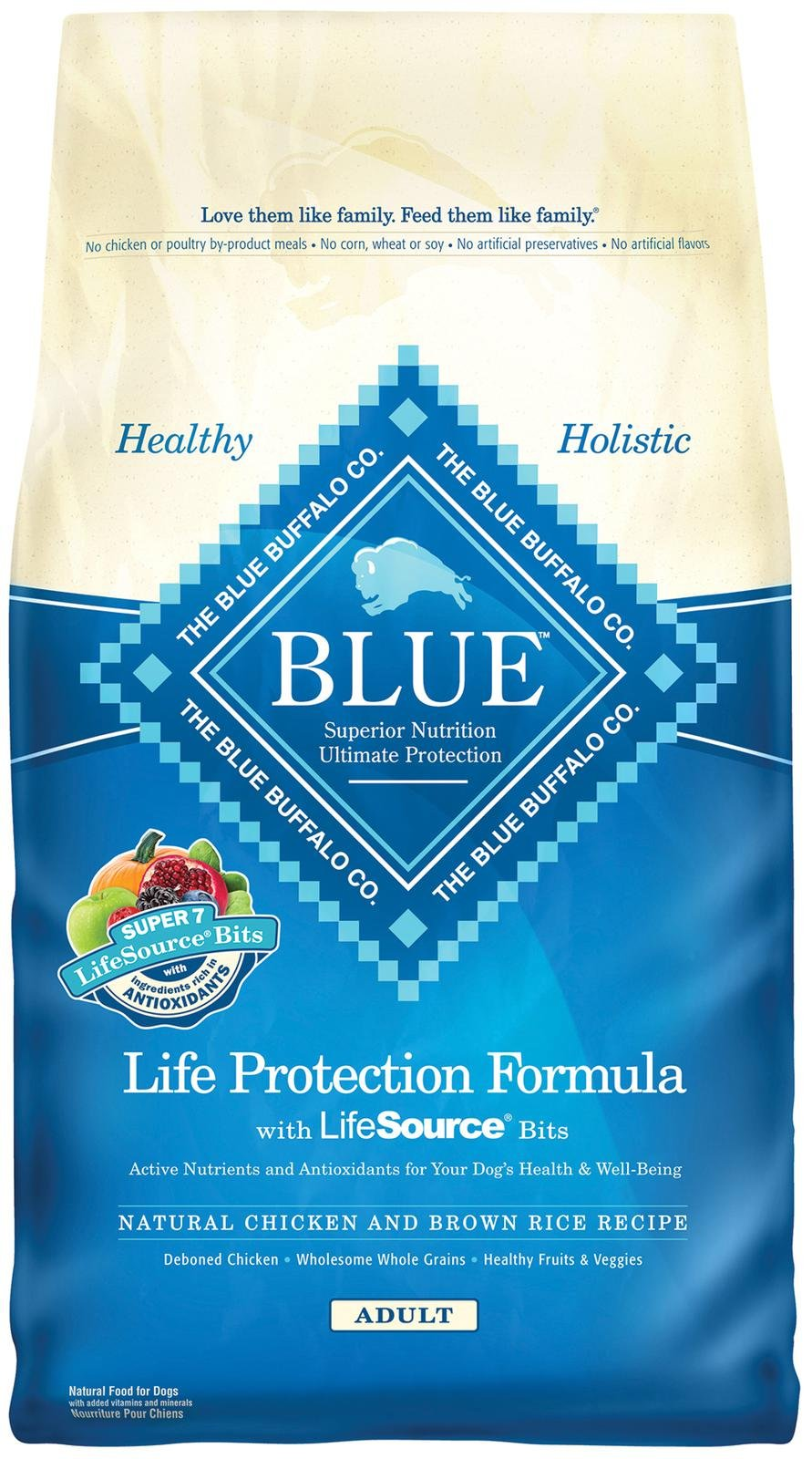 Blue Buffalo Life Protection Formula Adult Chicken & Brown Rice Recipe Dry Dog Food 30lbs