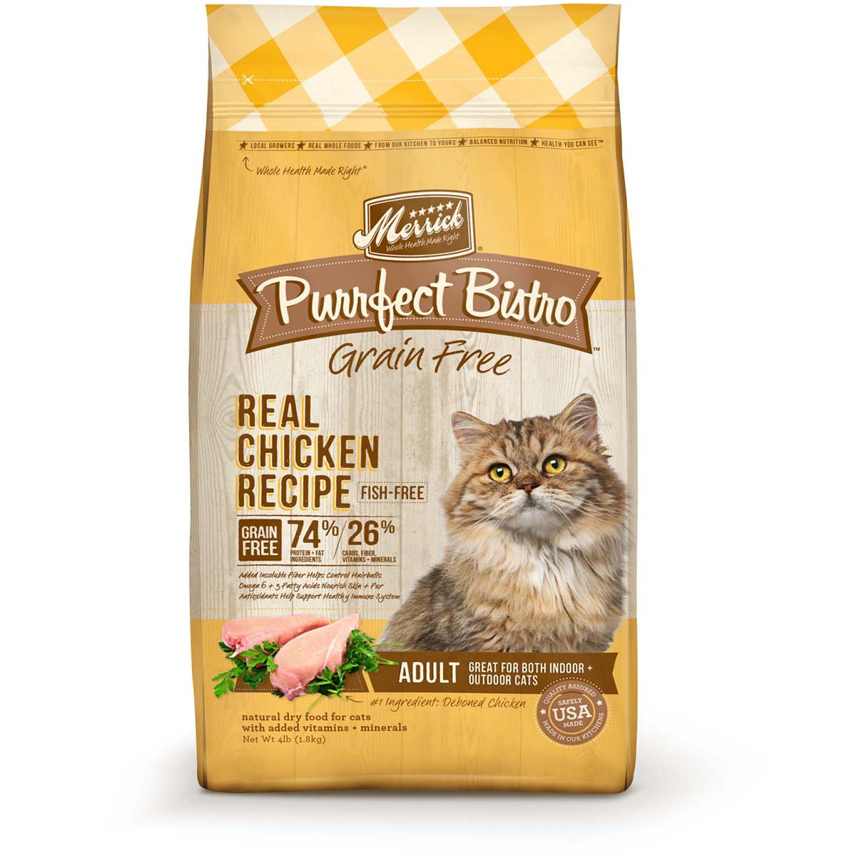 Merrick Purrfect Bistro Grain-Free Real Chicken Recipe Adult Dry Cat Food 4lbs