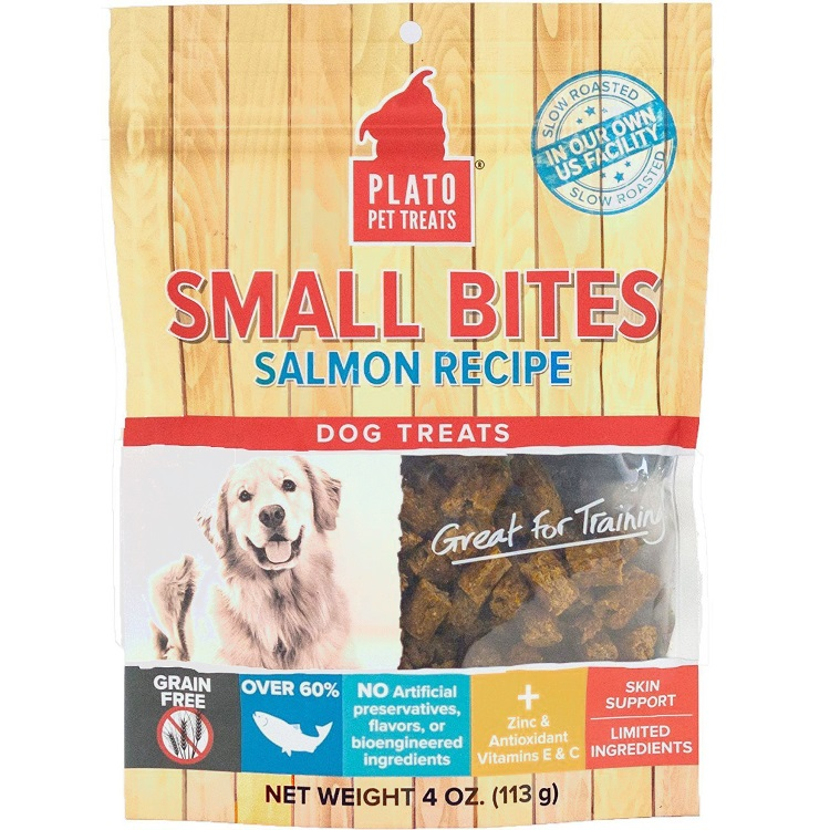 Plato Small Bites Salmon Dog Treats 4z