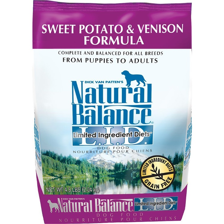 Natural Balance L.I.D. Limited Ingredient Diets Sweet Potato & Venison Formula Dry Dog Food 4.5lbs