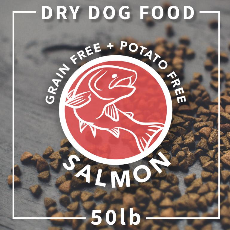 Naked Grain-Free Salmon and Chickpea Dry Dog Food 50lbs