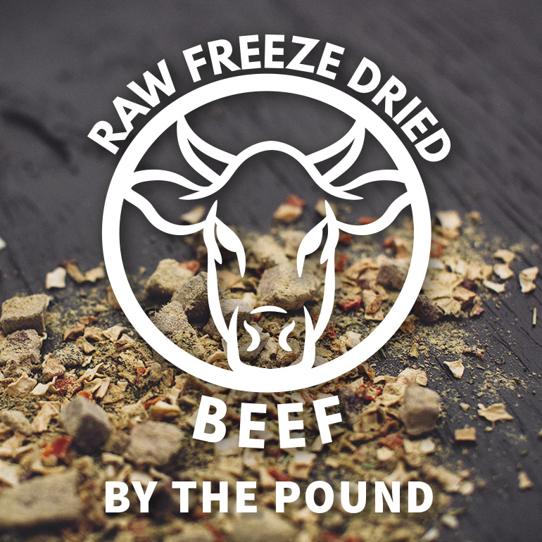 DOG Naked Raw Beef Freeze Dried Food By the Pound Grain-Free