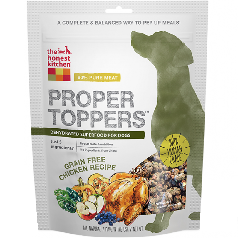 The Honest Kitchen Proper Toppers Grain Free Chicken Recipe for Dogs 5.5z
