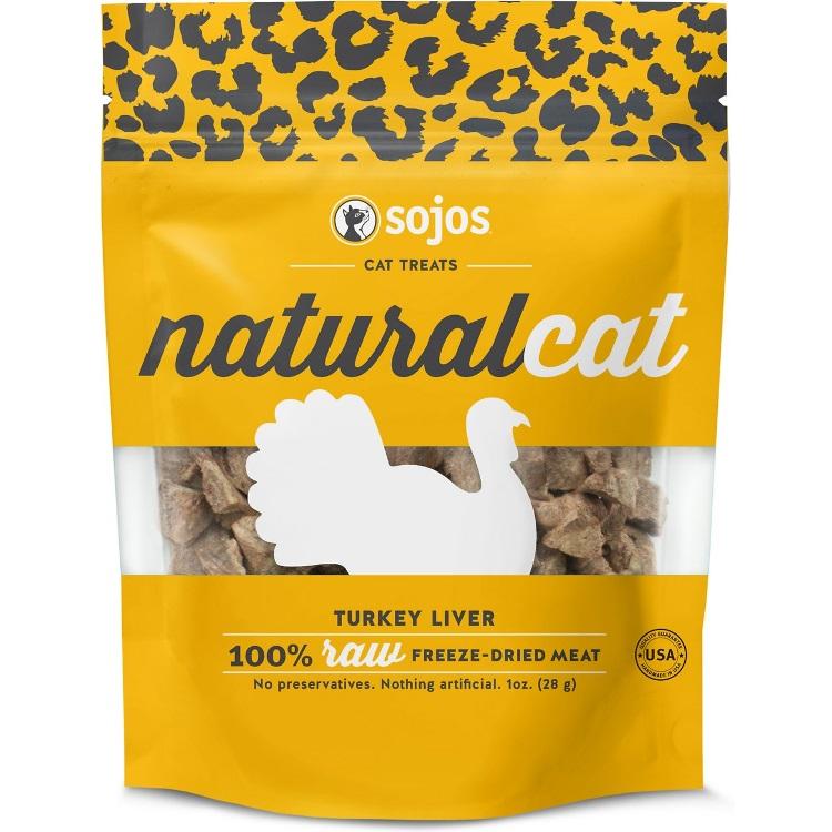 Sojos NaturalCat Turkey Liver Freeze-Dried Cat Treats 1z