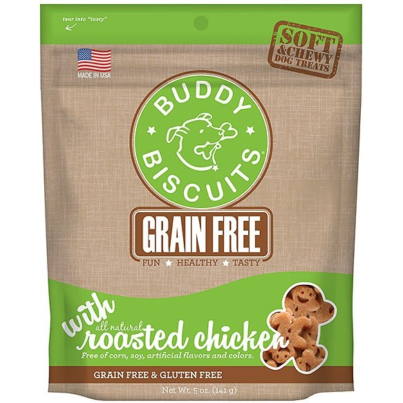 Cloud Star Buddy Biscuits Grain-Free Soft & Chewy with Rotisserie Chicken Dog Treats 5z