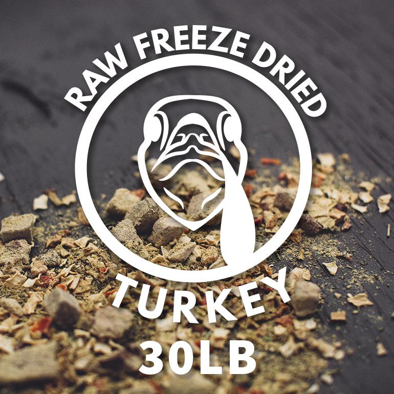 Naked Grain-Free Raw Turkey Dinner Freeze Dried Dog Food 30lbs